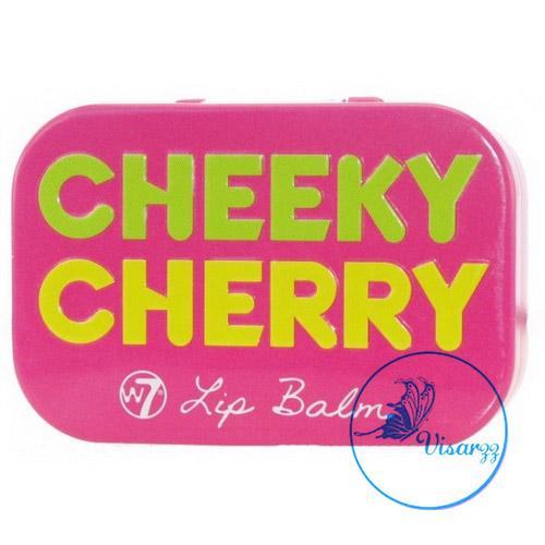 W7 Lip Balm Fruity in a Tin 12g # Cheeky Cherry กลิ่นเชอร์รี่ ลิปบาล์มกลิ่นผลไม้ ลดปัญหารอยดำ ร่องปาก ช่วยให้ผิวริมฝีปากเนียนนุ่ม