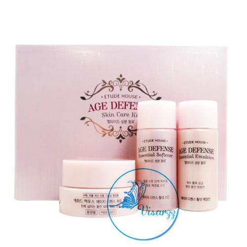 Etude House Age Defend Skin Care Kit 3 Items บำรุงผิวสวยให้คงความอ่อนเยาว์ พร้อมมอบความชุ่มชื่นให้ผิวดูเปล่งประกาย