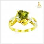 แหวนเขียวส่องแท้ ทองแท้ สวยเก๋อย่างมีสไตล์(สอบถามราคา)