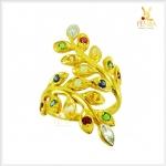 แหวนนพเก้า ทองแท้ ใบมะกอก (สอบถามราคา)