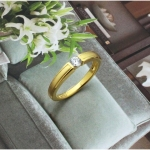 แหวนเงิน หุ้มทองคำแท้