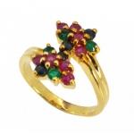 แหวนพลอย ตัวเรือนอัลลอยด์หุ้มทองคำแท้