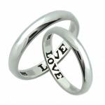 แหวนเงินแท้ แกะสลัก LOVE