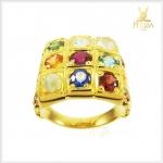แหวนนพเก้าแท้ ทองแท้ เพชรแท้ ตามตำราโบราณ(สามารถสั่งทำได้ค่ะ)