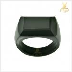 แหวนนิลแท้ เจียระไนนิลทั้งวง เท่อย่างมีสไตล์ โดดเด่นเต็มๆ นิ้ว