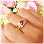แหวนทับทิมแท้ (โมซัมบิก) ทองแท้ เพชรแท้ (สามารถสั่งทำได้ค่ะ)
