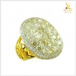 แหวนเพชรแท้ เสริมอำนาจบารมี สวมใส่เต็มๆ นิ้ว โดดเด่นสะดุดตา(ขายแล้ว)