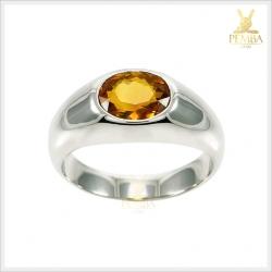 แหวนซิทรินแท้ ดีไซน์เรียบๆ แต่มีสไตล์