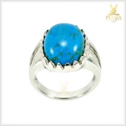 แหวนเทอร์คอยส์ อัญมณีสีฟ้าเขียวสวยงาม ดีไซน์เก๋ๆ