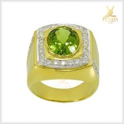 แหวนเพริดอต ทองแท้ เพชรแท้ เสริมอำนาจบารมี(สอบถามราคาได้ค่ะ)