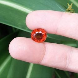 ขายพลอยสเปสซาไทต์ การ์เนต สีส้ม ไซส์โต 8.99 ct เลขกะรัตสวยเป็นมงคล หายากสุดๆ