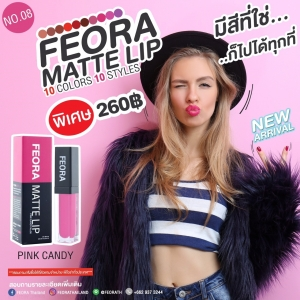 FEORA MATTE LIP NO.08 PINK CANDY