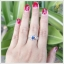 แหวนไพลิน เงินแท้ ชุบทองคำขาว thumbnail 4