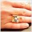 แหวนพลอยนพเก้า ทองแท้ เพชรแท้ (สามารถสั่งทำได้ค่ะ) thumbnail 5