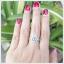 แหวนอะความารีนแท้ ล้อมเพชรCZ สวยเก๋น่ารักๆ ค่ะ thumbnail 4