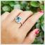 แหวนลอนดอนบลูโทแพซแท้ อัญมณีสีน้ำเงินเข้มสวยงาม thumbnail 5
