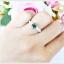 แหวนเขียวส่องแท้ เงินแท้ ชุบทองคำขาว thumbnail 5