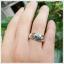 แหวนเพทายแท้ สีฟ้าสดใส ประกายเพชร thumbnail 5