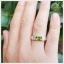 แหวนเพริดอต เงินแท้ ชุบทองคำขาว thumbnail 4