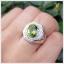 แหวนเพริดอตแท้ เงินแท้ ชุบทองคำขาว thumbnail 5