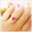 แหวนทับทิมแท้ เงินแท้ ชุบทองคำขาว thumbnail 4