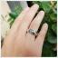 แหวนเพทายแท้ สีฟ้าสดใส ประกายเพชร thumbnail 4