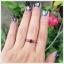 แหวนโกเมนแท้ เงินแท้ ชุบทองคำขาว thumbnail 4